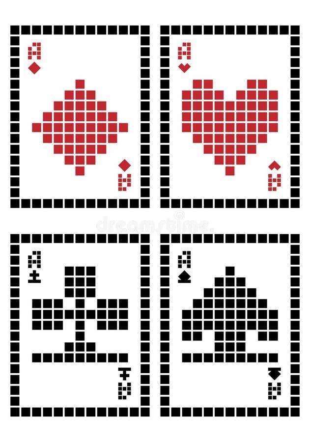 Naipes del pixel libre illustration