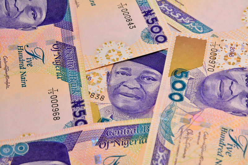 Naira de Nigeria fotografía de archivo libre de regalías