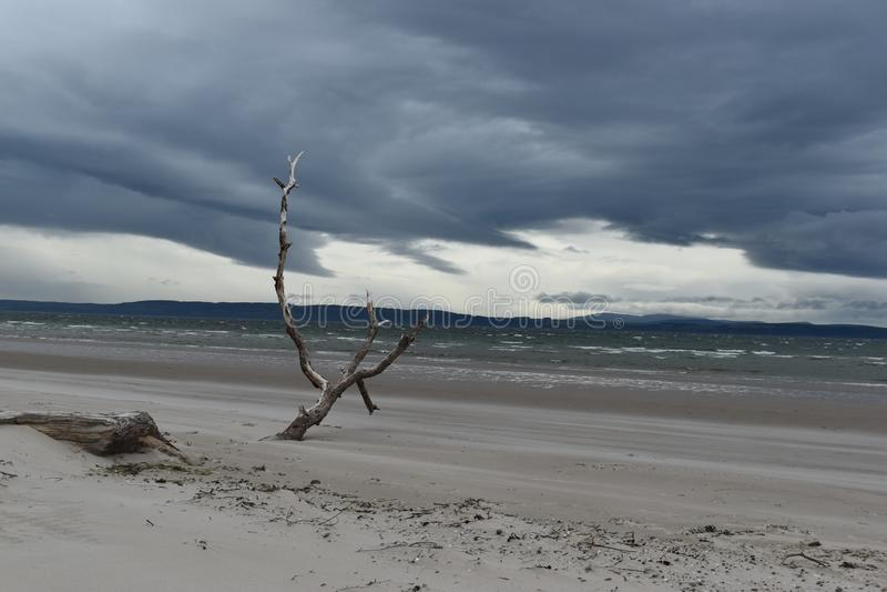 Nairn, Scottish highlands, East beach at sunset royalty free stock photos