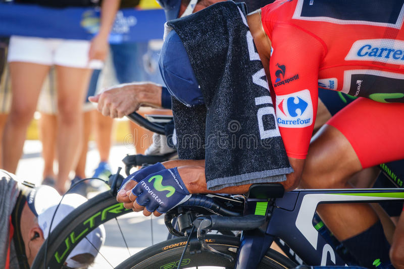 Nairo Quintana (Movistar team) royalty free stock image