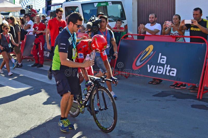 Nairo Quintana Movistar Team royalty free stock photography