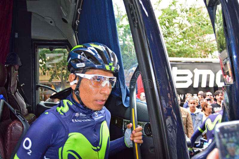 Nairo Quintana Team Movistar royalty free stock photo