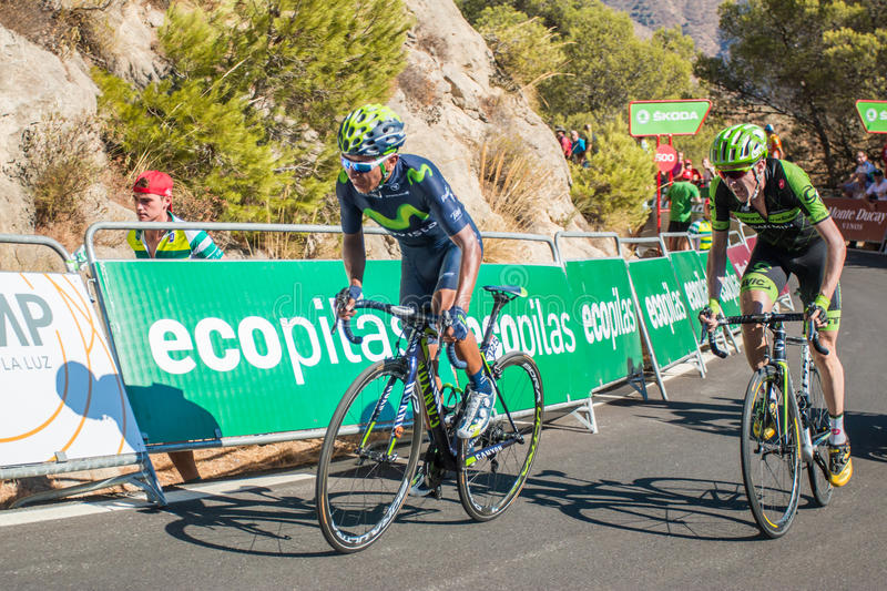 Nairo Quintana on the Tour of Spain stock images
