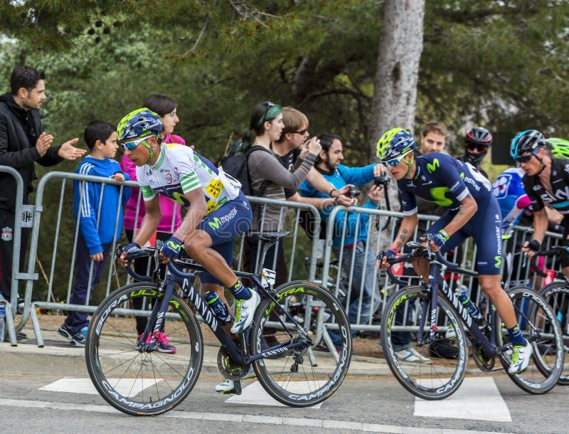 Nairo Quintana - vencedor da excursão de Catalunya 2016 imagens de stock