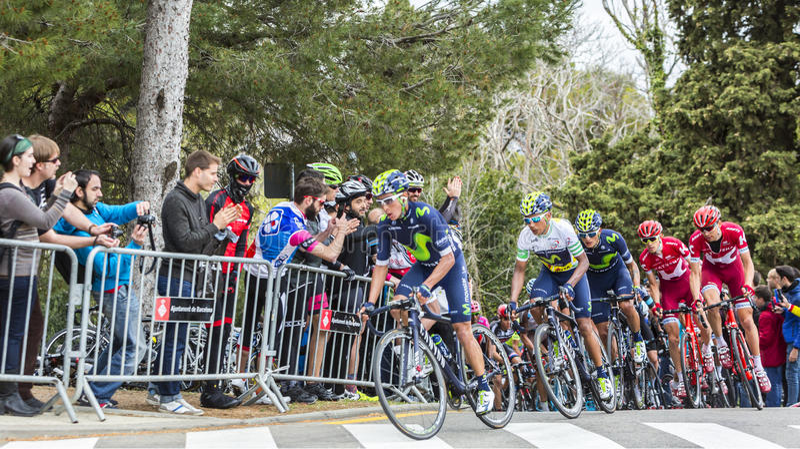 Nairo Quintana - vencedor da excursão de Catalunya 2016 fotografia de stock