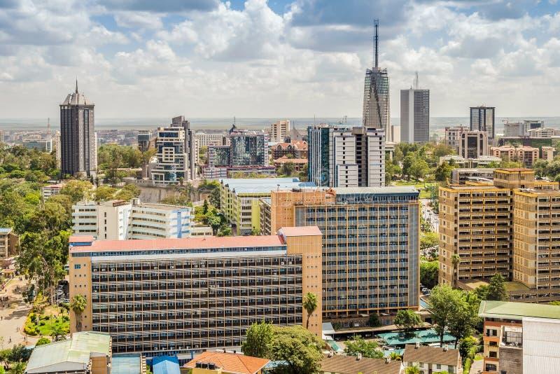 Nairobi céntrica - capital de Kenia fotografía de archivo libre de regalías