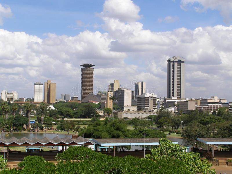 Nairobi de stad in royalty-vrije stock fotografie
