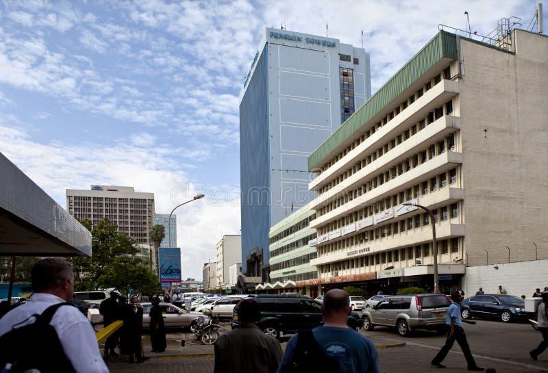 Nairobi du centre photographie stock