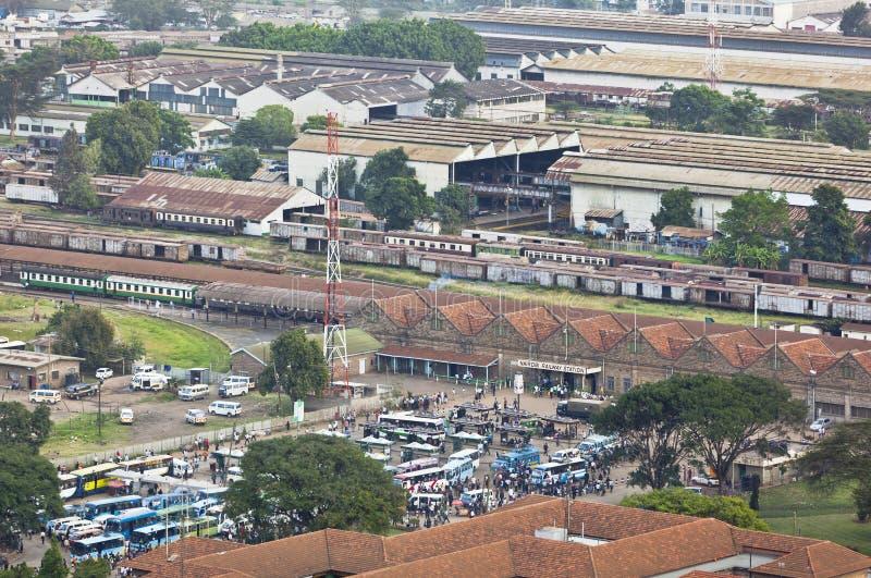 Nairobi järnvägsstation, Kenya, ledare royaltyfria foton