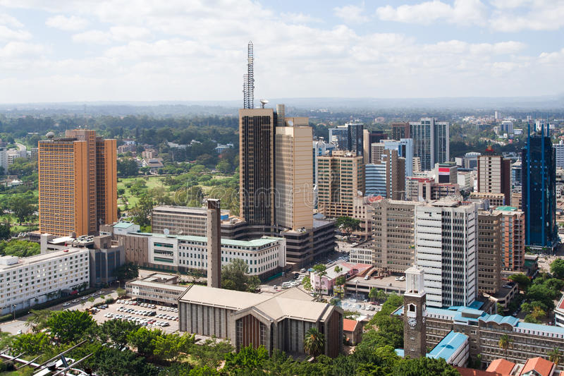 Nairobi, Kenia stockfotografie