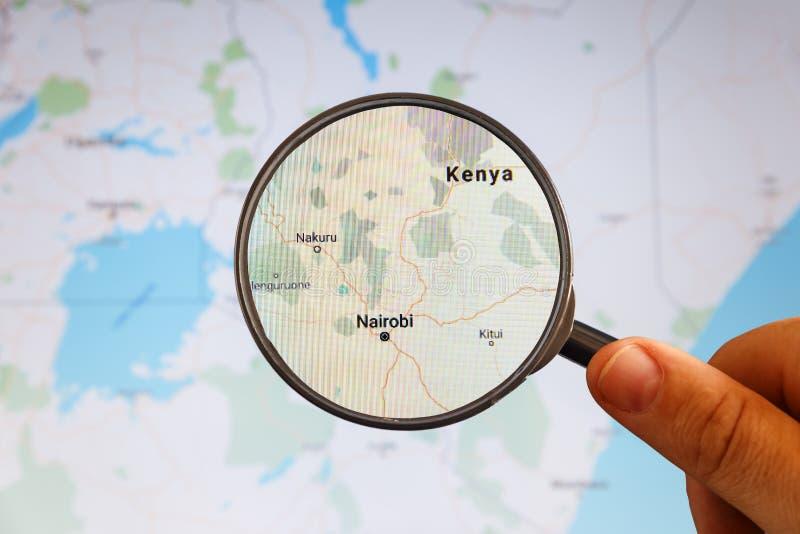 Nairobi, Kenia correspondencia pol?tica imágenes de archivo libres de regalías