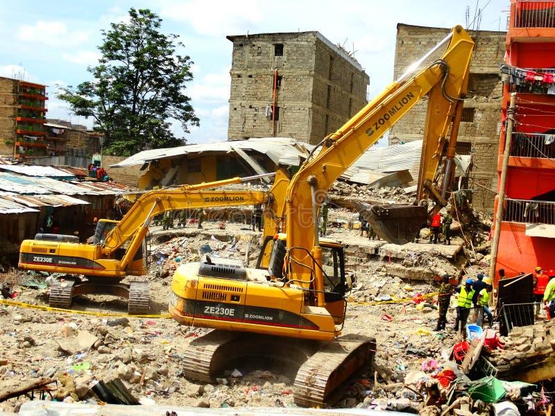 Nairobi-Kenia, de doen ineenstorten Bouw stock fotografie