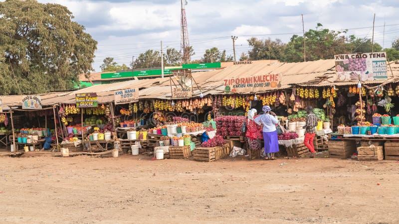 Nairobi in Kenia, marktkramen royalty-vrije stock afbeelding