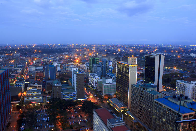 Nairobi Kenya la nuit photos stock