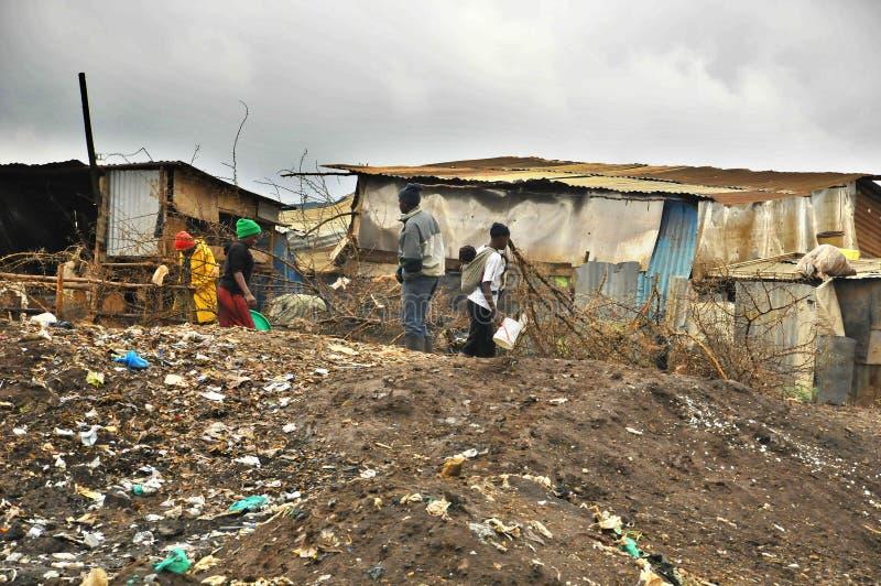 Nairobi slumkvarter royaltyfria bilder
