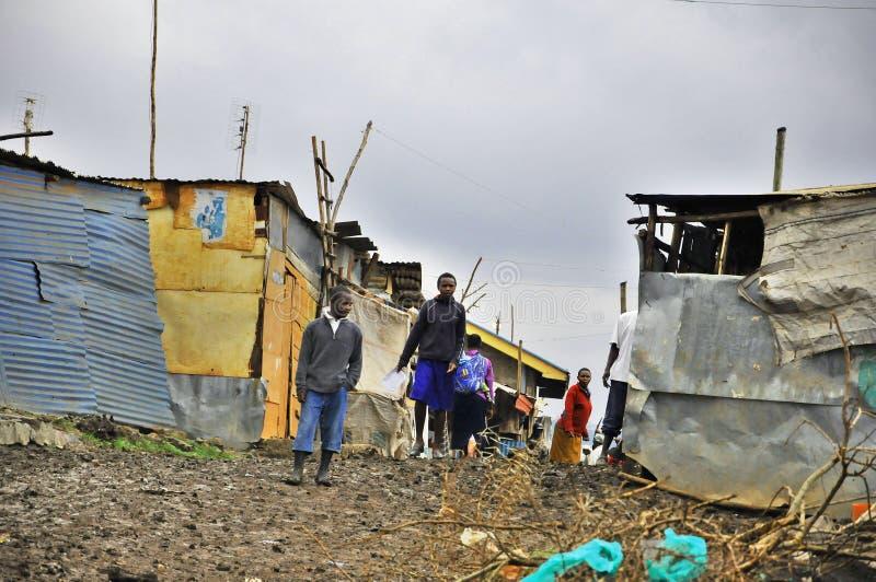 Nairobi slumkvarter royaltyfri bild