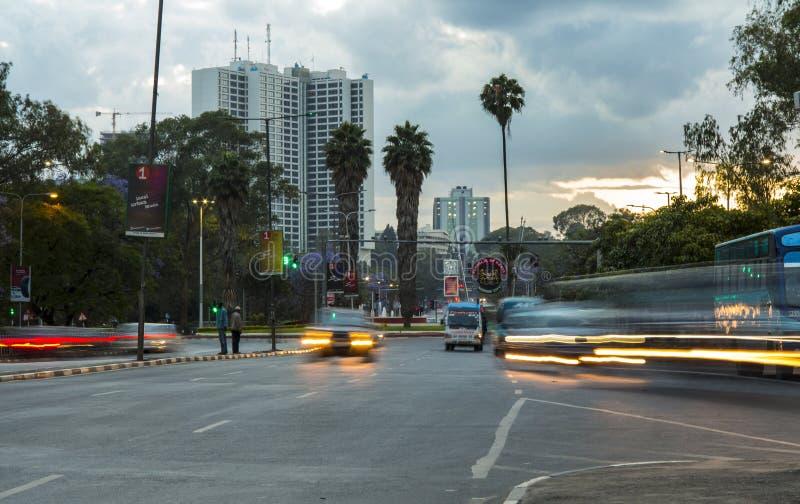 Nairobi-Verkehr stockbild