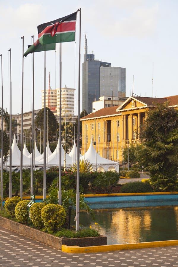 Nairobia centrum biznesu, Kenja obrazy stock