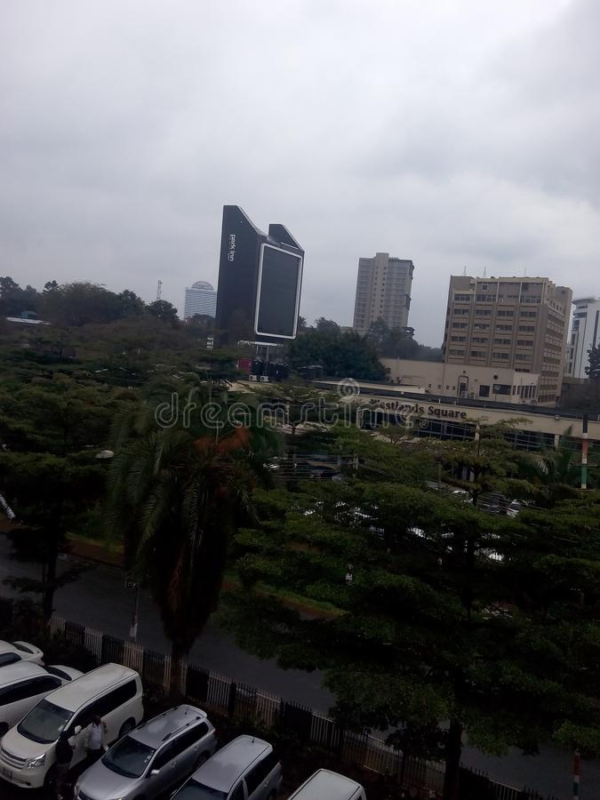 Nairobia Kenya westlands nowy postęp obrazy royalty free
