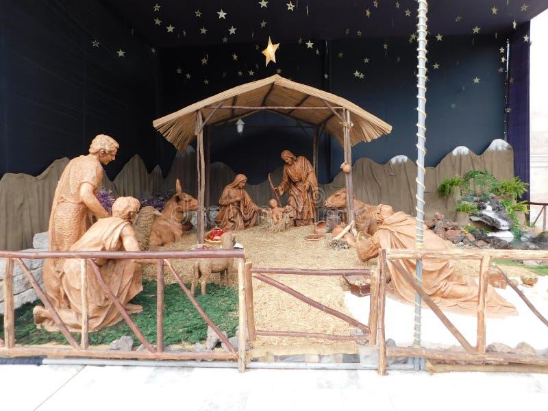 Naissance de Jésus dans la cathédrale d'Arequipa image libre de droits