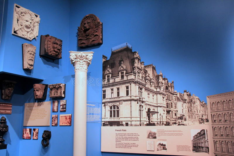 Naissance de l'objet exposé de métropole, montrant le début de la ville, musée d'état, Albany, 2016 image libre de droits