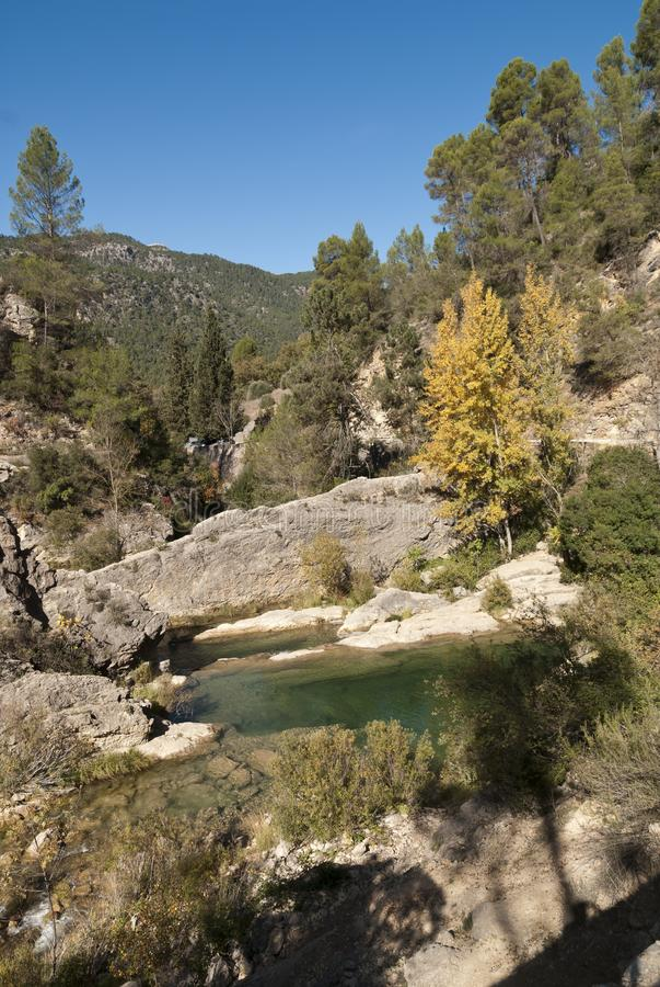 Naissance de la rivière du Guadalquivir photos stock