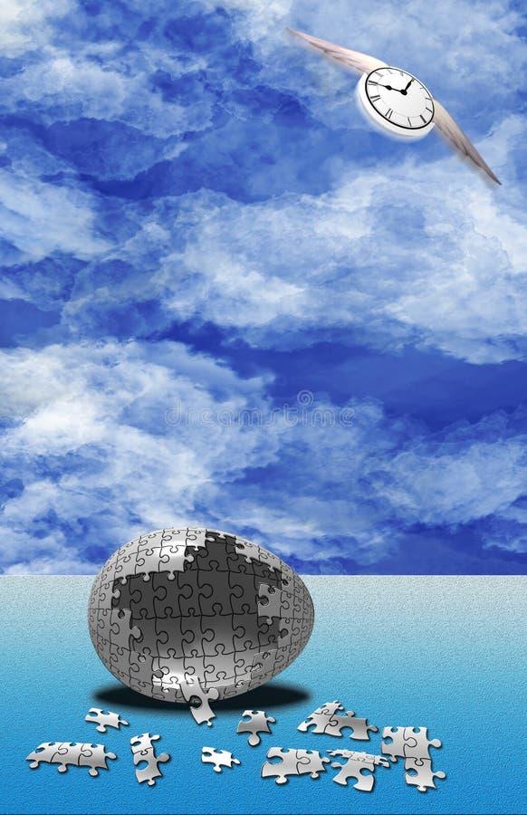 Naissance de puzzle de temps illustration libre de droits