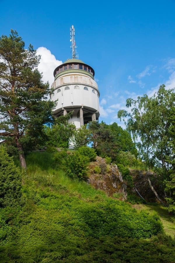 Naisvuori för ` för observationstorn `, Mikkeli Finland arkivfoto