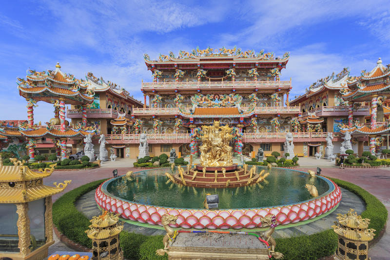 Naja Shrine, temple de style chinois dans Chonburi, Thaïlande photos libres de droits