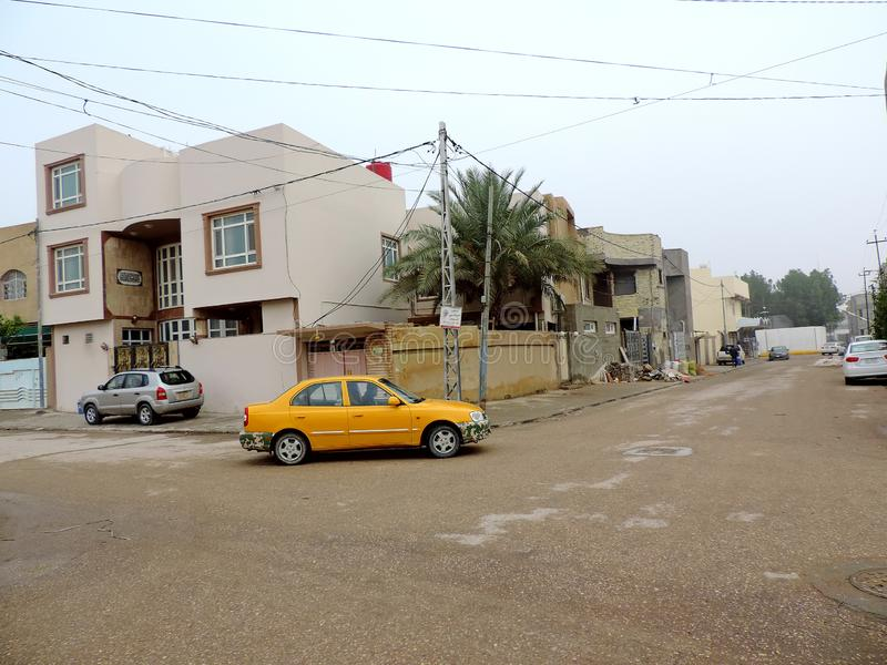Streets of Najaf. Najaf or al-Najaf al-Ashraf is a city in central-south Iraq about 160 km south of Baghdad. It is the capital of Najaf Governorate. It is widely royalty free stock photography