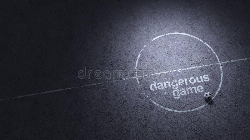 ' najbardziej niebezpieczna gra ' T?o royalty ilustracja