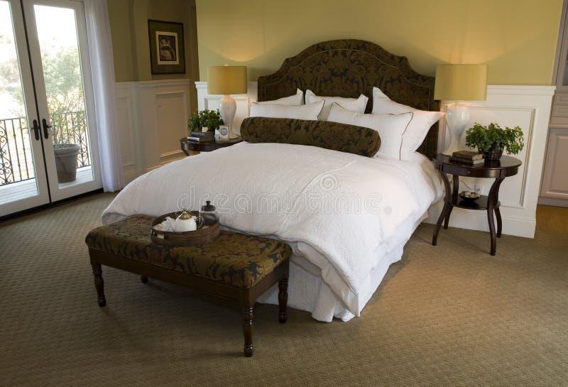 najbardziej nowoczesne sypialni w domu fotografia royalty free