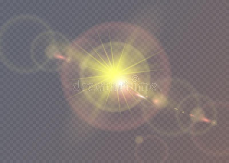 najjaśniejsza gwiazda Półprzezroczysty połysku słońce, jaskrawy raca royalty ilustracja