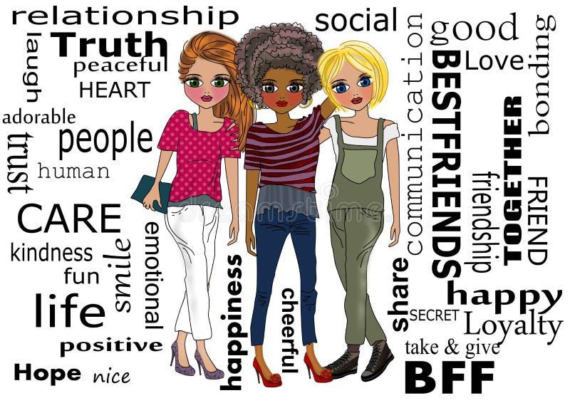 Najlepsi Przyjaciele royalty ilustracja