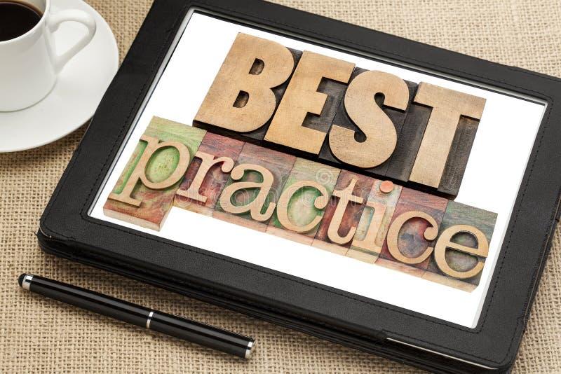 Najlepsza praktyka na cyfrowej pastylce obraz stock