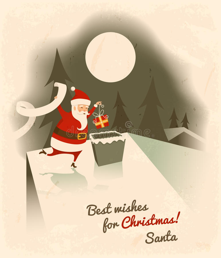 Najlepsze życzenia dla bożych narodzeń ilustracja wektor