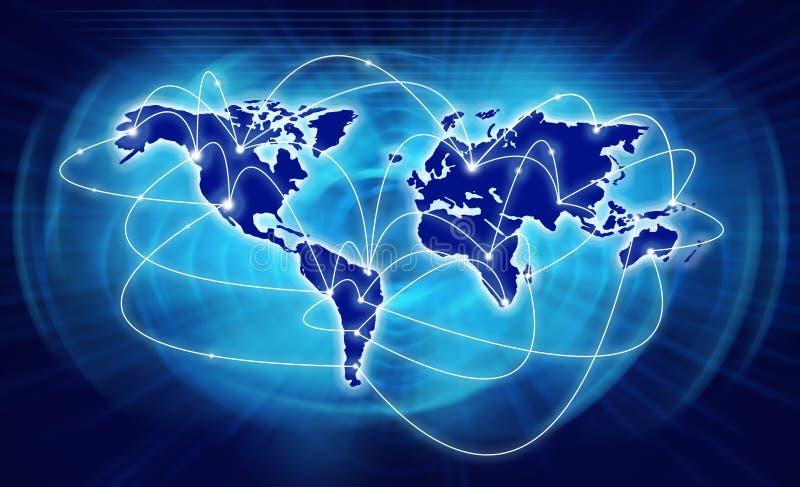 najlepszego biznesowego pojęcia globalni internety ilustracja wektor