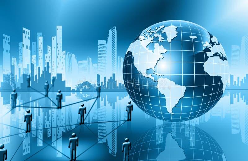 najlepszego biznesowego pojęcia globalni internety kulę royalty ilustracja