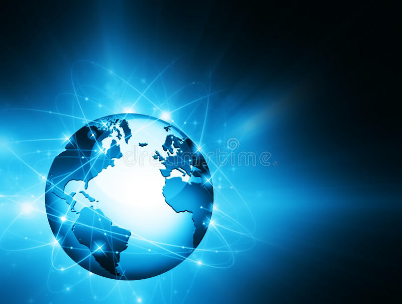 najlepszego biznesowego pojęcia globalni internety kulę ilustracji
