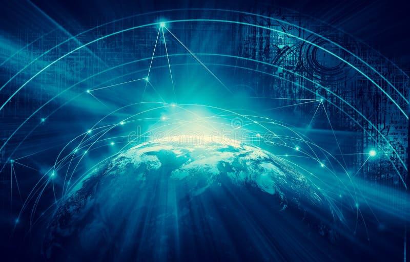 najlepszego biznesowego pojęcia globalni internety Technologiczny backgroun royalty ilustracja