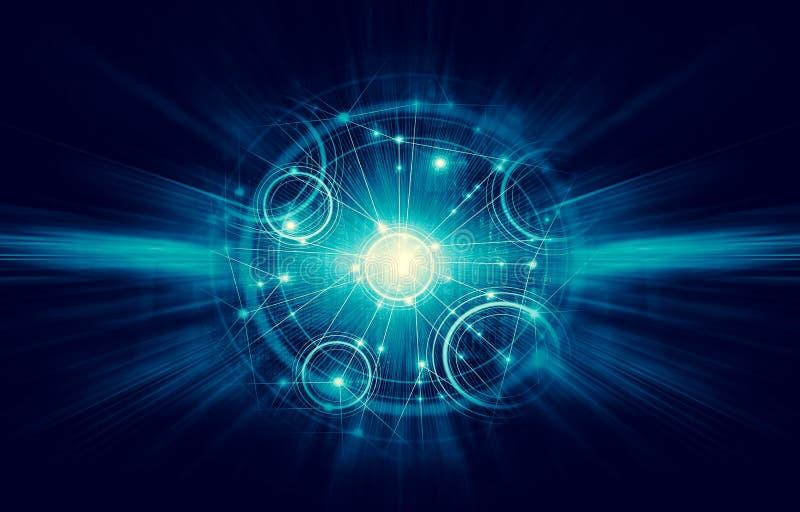 najlepszego biznesowego pojęcia globalni internety Technologiczny backgroun ilustracja wektor