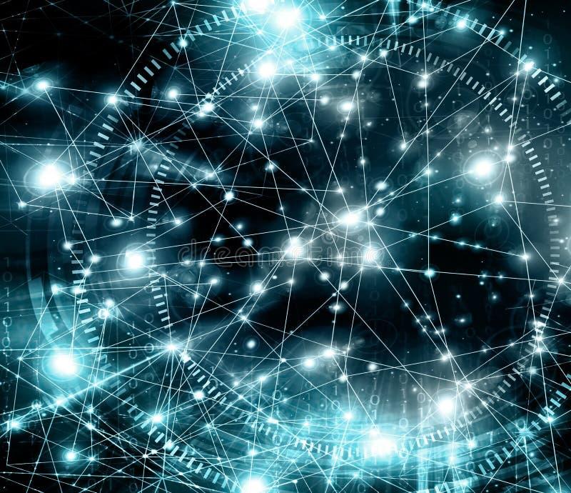 najlepszego biznesowego pojęcia globalni internety Technologiczny backgroun ilustracji