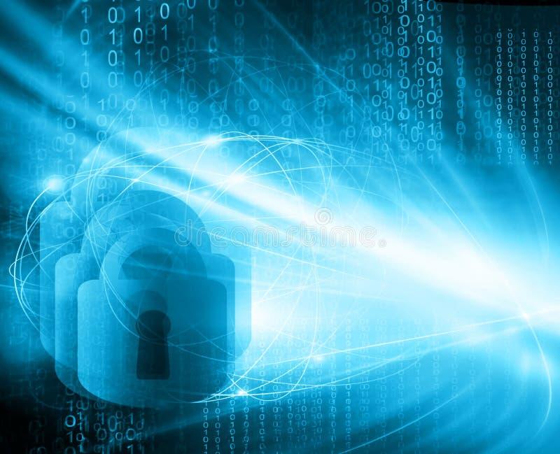 najlepszego biznesowego pojęcia globalni internety technologiczny tło E ilustracji