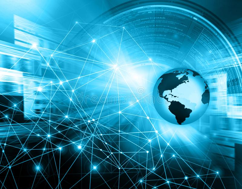 najlepszego biznesowego pojęcia globalni internety technologiczny tło Promieni symbole Fi internet, televisi ilustracja wektor