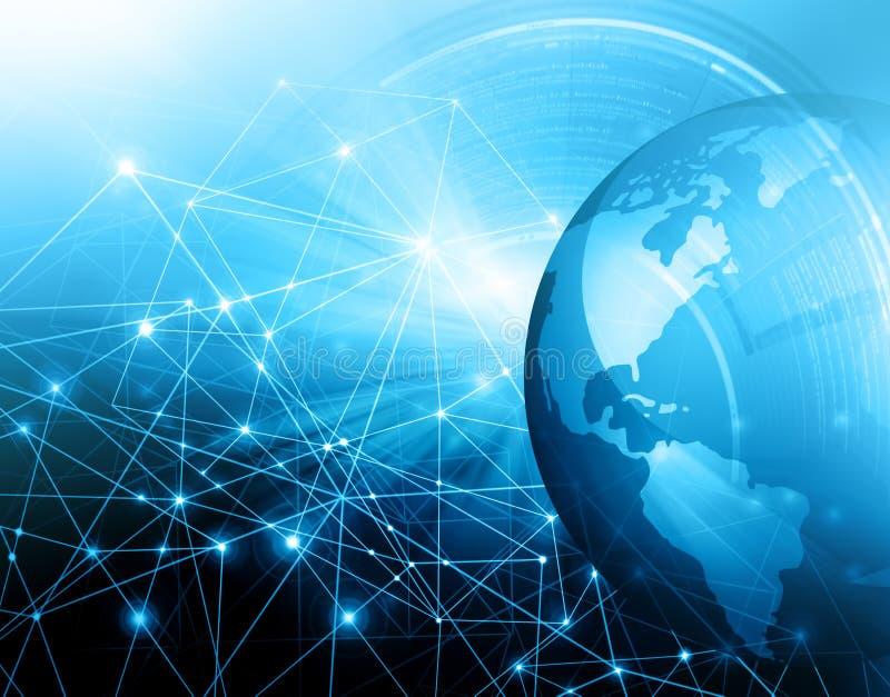 najlepszego biznesowego pojęcia globalni internety technologiczny tło Promieni symbole Fi internet, televisi ilustracji