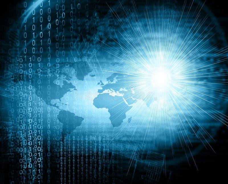 najlepszego biznesowego pojęcia globalni internety technologiczny tło Promieni symbole Fi internet, telewizja ilustracji