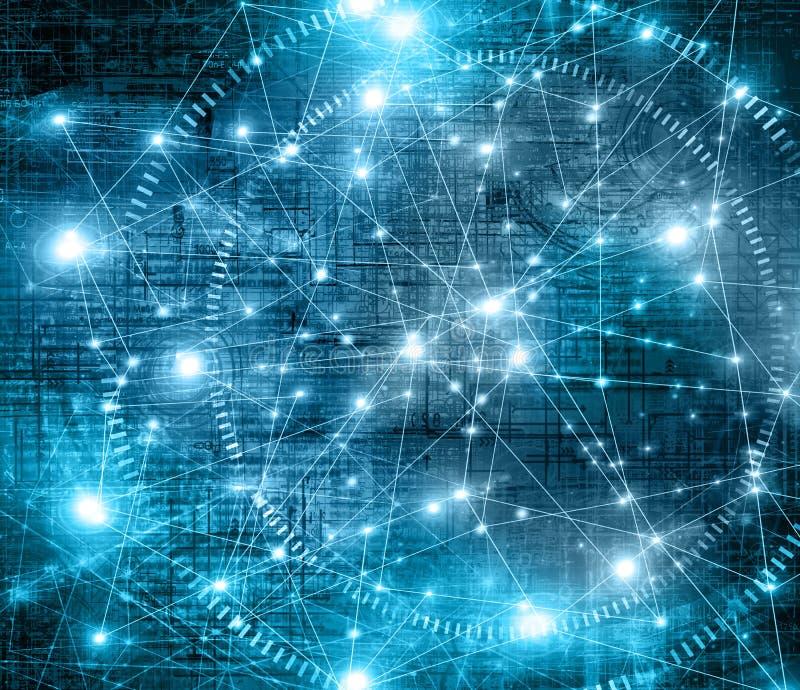 najlepszego biznesowego pojęcia globalni internety technologiczny tło Promieni symbole Fi internet, telewizja royalty ilustracja