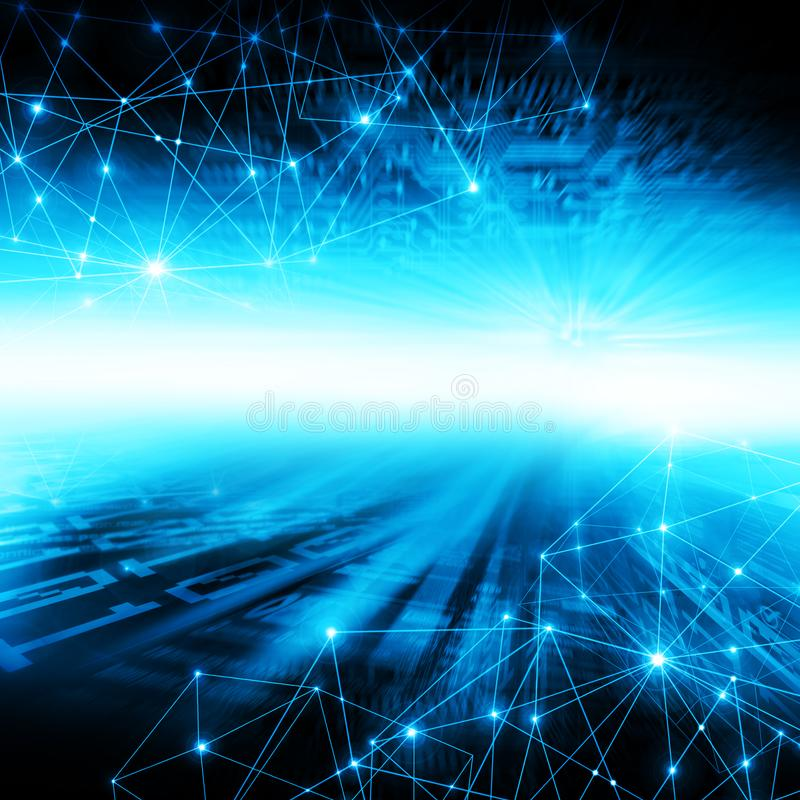 najlepszego biznesowego pojęcia globalni internety Technologiczny tło, symbole Fi internet, telewizja, wisząca ozdoba ilustracja wektor