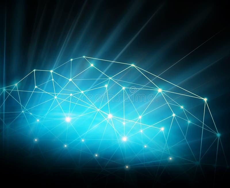najlepszego biznesowego pojęcia globalni internety Technologiczny tło, symbole Fi internet, telewizja, wisząca ozdoba royalty ilustracja