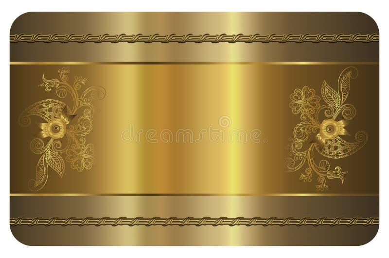 najlepszej wizytówki oryginalni druki przygotowywali szablonu wektor Złoto karta ilustracji